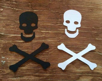 Skull and crossbones die cuts cut outs