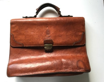 Vintage Italian Leather satchel by Susini