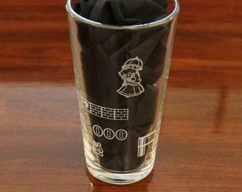 Mario Level Wrap-around Pint Glass