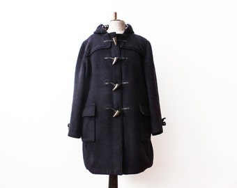 Vintage Duffle Coat 1960s Wool Jacket Casual Winter Coat Warm Clothing Buffalo Toggles