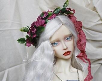 Sweet Virgine flower handmade headband wreath corolla for bjd dollfie sd 8-10 inch size dolls heads