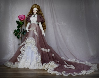 Lonely Rose OOAK handmade dress set for bjd dollfie sd sd10 sd13 clothing clothes doll size historical edwardian victorian style