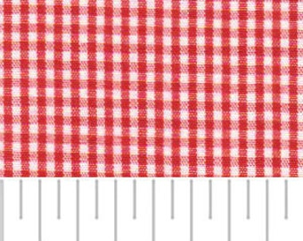 High Quality Fabric Finders Berry Red Gingham