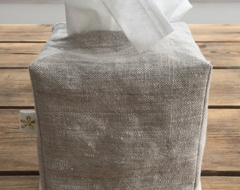 Linen Tissue Box Cover