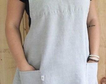 Linen pinafore apron