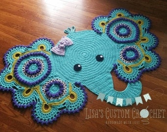 Customizable Elephant Rug