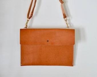 Bridle Leather Envelope Clutch