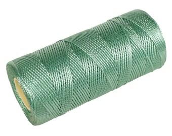 15 Meters Crochet Thread not waxed, Nylon Thread, Micro Macrame 0.8m Cord - Mint