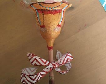 Sample personalized Native American margarita glass