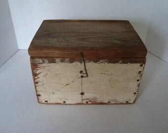 Primitive Divided Wooden Box