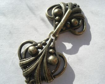 45mm Bronze Tone Shawl Clip, Metal Fastener Sweater Clip, Shawl Clasp with Two Part Fastener MB42