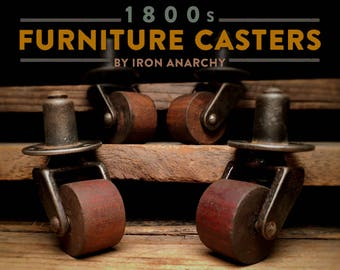 4 Vintage Table Casters Furniture Casters