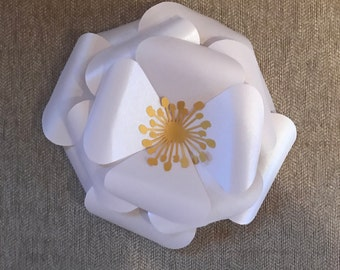 Water Lilly Large Paper Flower Template  DIY