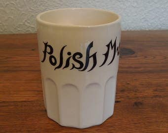 Vintage Ceramic Polish Mug Novelty Gag Gift/Joke Japan