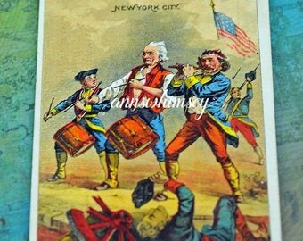 1800s Trade Card, Fourth of July, Brooks Harness Oil NYC (PB #21)