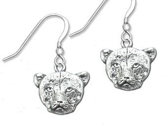 Sterling Silver Cheetah Earrings