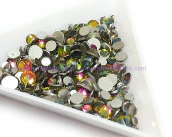 Mixed Size Crystal Volcano Flat Back Rhinestones High Quality 500pcs