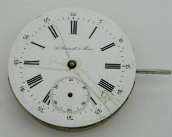 Swiss Watch Mechanism Movement L.BRANDT & FRERE Works #837S