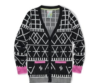 Berber Graphic Cardigan
