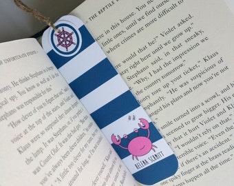 Personalized Book Club Bookmark Journal Bookmark Planner Page Marker Teacher Gift Nautical Paper Bookmark Kids Book Lover Gift Bookworm Gift