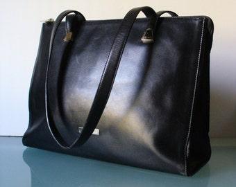 Vintage Desmo Made in Italy Black Tote Bag