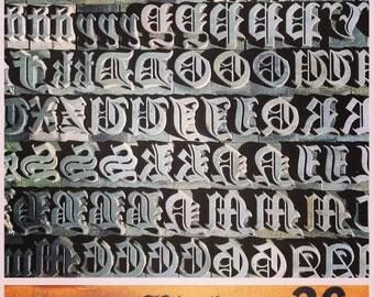 Cloister Black 36pt Letterpress Type / Font
