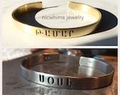 Bold Armenian Name Cuff - Armenian Name Bracelet - Armenian Jewelry - Armenian - Cuff Bracelet - Brass Cuff
