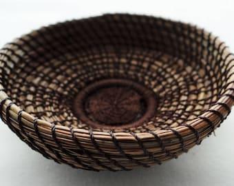 Brown Trinket Basket Pine Needle Trinket Basket Trinket Basket Pine Basket Brown Native American Basket Basket For Him Basket For Her