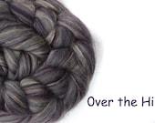 Blended tops - Merino - Tussah silk - 100g/3.5oz - purple - OVER THE HILL