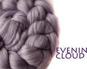 EVENING CLOUD - blended tops-shimmer-purple-merino-faux cashmere-silk-milk-100g/3.5oz