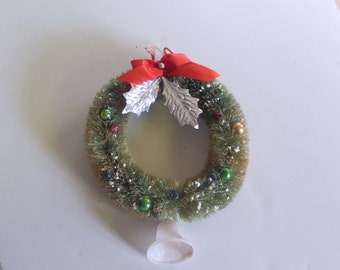 Vintage Bottle Brush Wreath #1