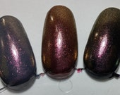 Ruby Pink Red Gold Shimmer Sparkle Effect Gemstone Top Coat Nail Lacquer Indie Starlight and Sparkles Polish