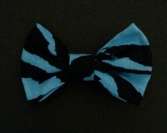 Blue Zebra Bow