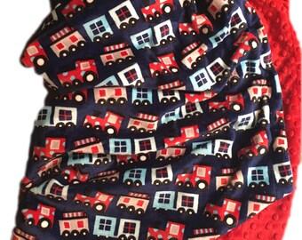 Personalized Minky Baby Blanket, Kids Minky Blanket, Navy Minky Baby Blanket, Baby Boy Blanket, Baby Girl Blanket, Crib size  36 x 45 in