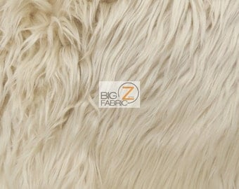 """Solid Shaggy Faux Fur Fabric - LATTE - Sold By The Yard 60"""" Width Costumes Accessories Clothing"""