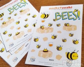 BEES! Sticker Sheet