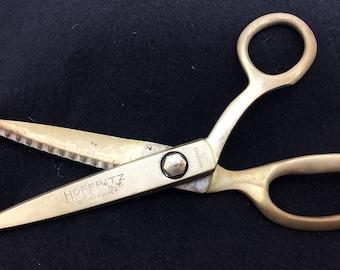 Vintage Hoffritz N.Y. Germany Pinking Shears Scissors Sewing Fabric Tools