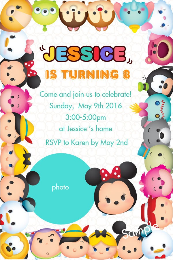 il_fullxfull.1076569418_6mtv tsum tsum invitation printable tsum tsum birthday invitation,Tsum Tsum Invitation