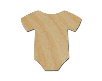 Onesie Shape Unfinished Wood Craft Cutouts Variety of Sizes Artistic Craft Supply