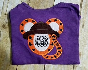 Safari Tigger Inspired Mouse Head Shirt