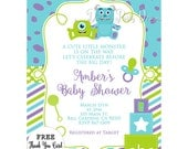 Monsters Inc Baby Shower Invitations