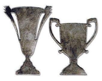 Sizzix Bigz Die By Tim Holtz 5.5'X6'-Tarnished Trophies