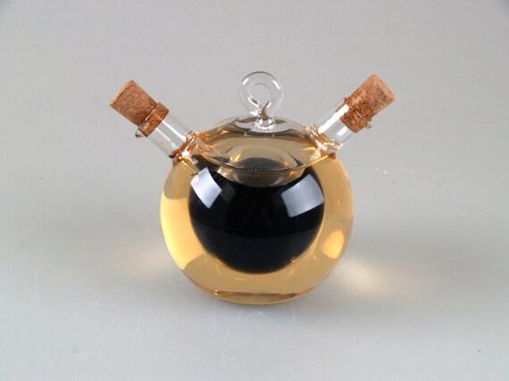 """e46-36 Oil and Vinegar Bottle """"Round"""""""