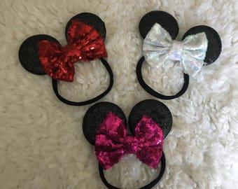 Minnie Mouse headband, Minnie Mouse baby headband, Minnie Mouse nylon headband, Minnie Mouse ears