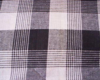 Cotton fabric/Summer fabric/Men Fabric/plaid and checked fabric/Shirt fabric/Top fabric/black and white checked fabric/black and white plaid