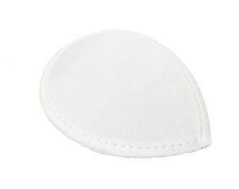 White Satin Teardrop Fascinator Hat Base with Hairclips - Available in 12 Colors