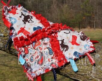 Cowboy Tag Blanket / Western Baby / Cowboy Blanket