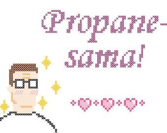PDF PATTERN Hank Hill propane-sama cross stitch