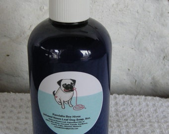 Hand Crafted Infused Neem Leaf Liquid Dog Soap Shampoo