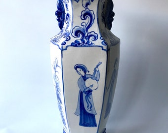 Sale. Big vintage China Blue vase. Now 50 EUR instead of 75EUR